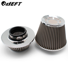 DEFT Universal 3 Car Air Filter Clean Intake High Flow Round Cone Car Air Intake Filter Induction Kit High Power Sports Mesh universal racing carbon fiber cold feed induction kit carbon fiber air intake kit air filter box with fan