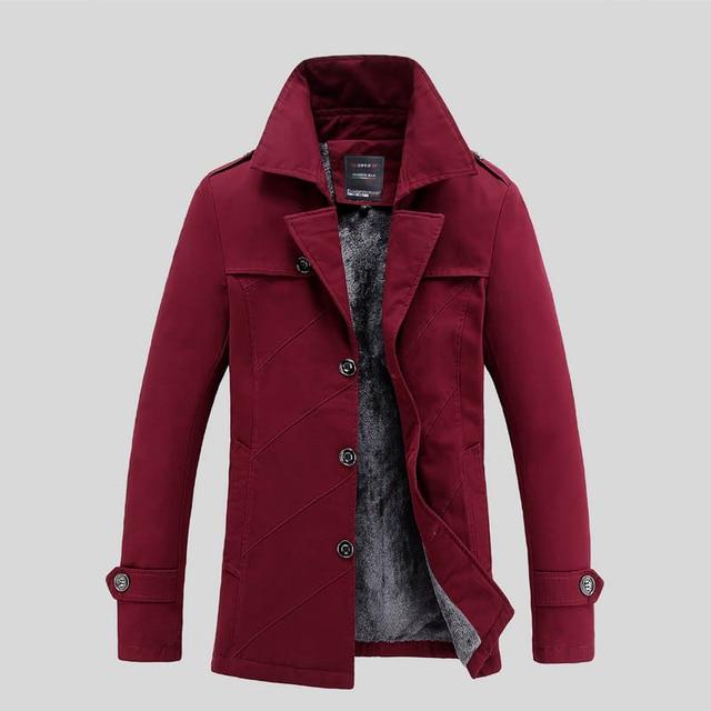 YG6184 Дешевые оптовые 2016 новых Мужчины с волос утолщение в долгосрочной бизнес теплые куртки ветровка пальто большой ярдов