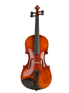 Strings Case Wood Violin Students with Bow Shoulder-Rest-Bass for Beginner 1/16-Size