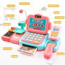 Electronic mini simulation supermarket cash register kit toy