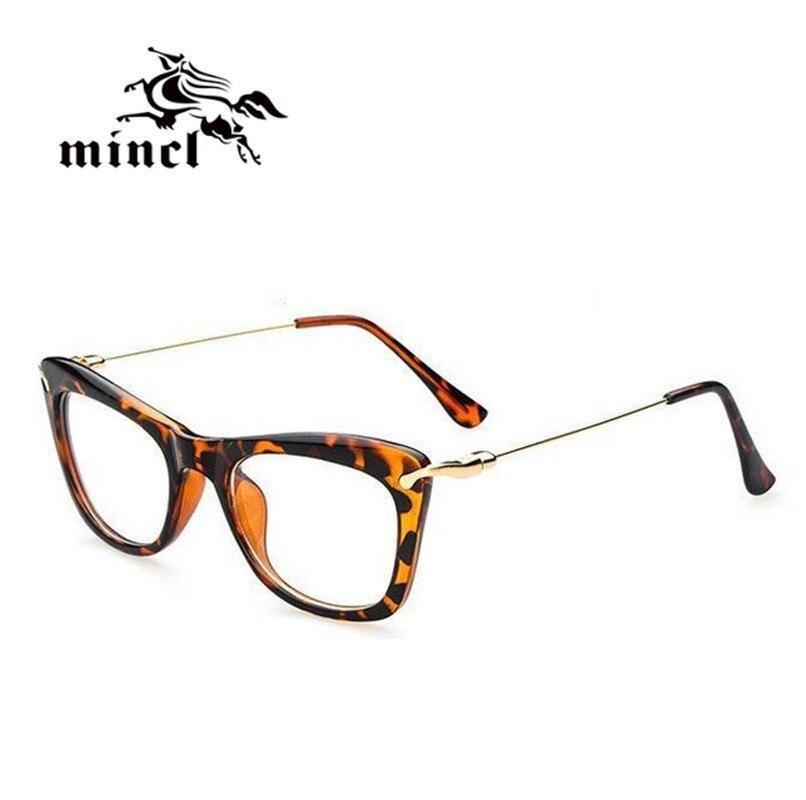 Mincl Gimmax papillon grande boîte lunettes cadre de mode de personnalité  femmes plaine miroir myopie lunettes cadre 61bce5cb2d07