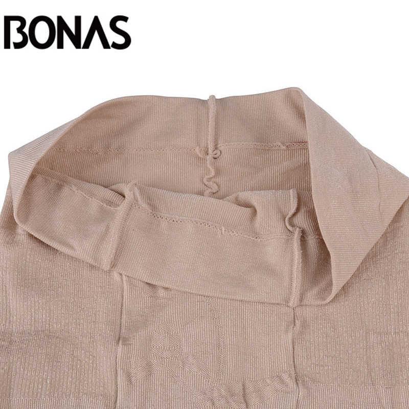 Bonas 15Dクモタイツ耐引裂性ナイロンストッキング女性抗フックセクシーな通気性タイツ薄型ストッキング女性collant