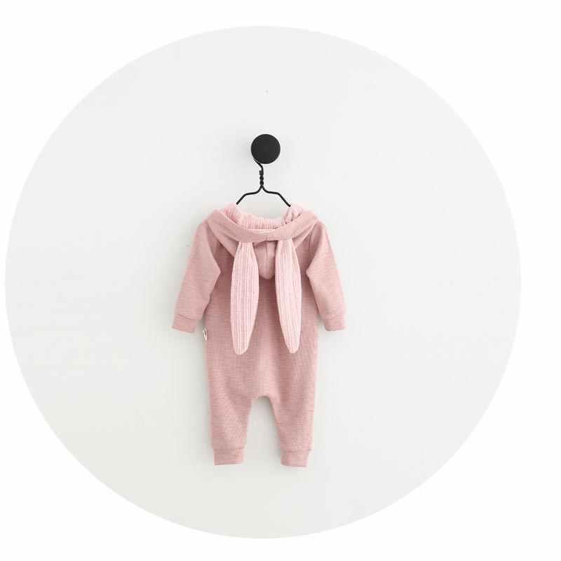 Новый Демисезонный ребенка комбинезон милый мультфильм кролик детские для девочек и мальчиков перемычки дети детские костюмы