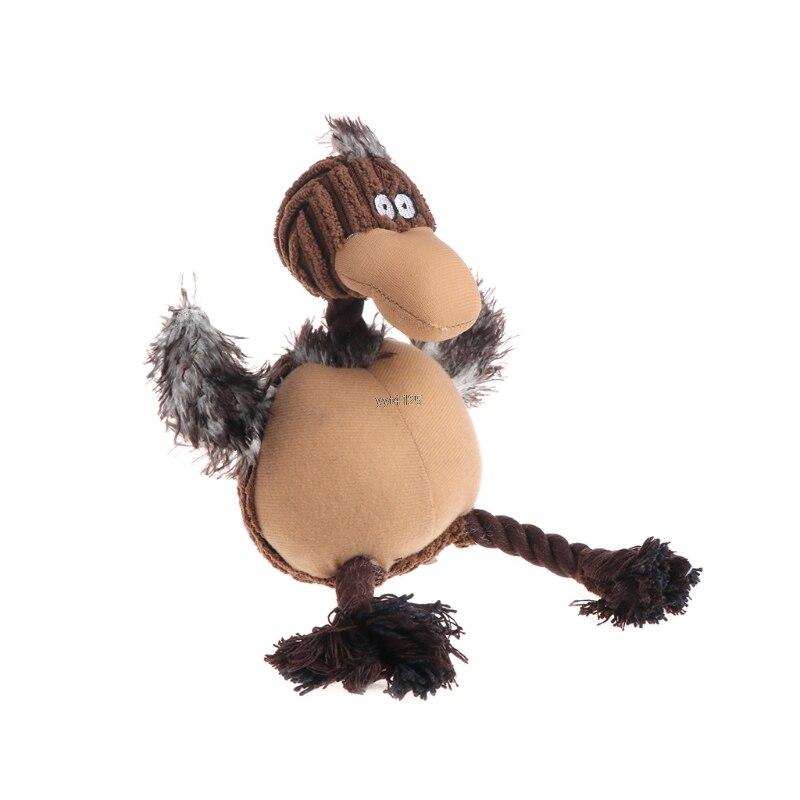 Любимая игрушка кошка собаки пищалка Щенок Плюшевые милые птицы животных формы Забавный звук подарки, игрушки для собак для домашних живот...