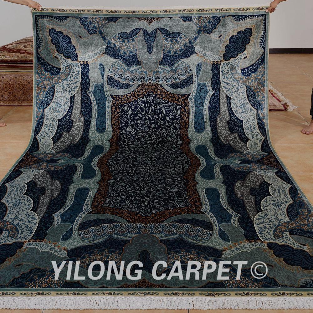 Yilong 6.56'x9.84 'prostirka turskog dizajna tamno plava boja hereke - Tekstil za kućanstvo