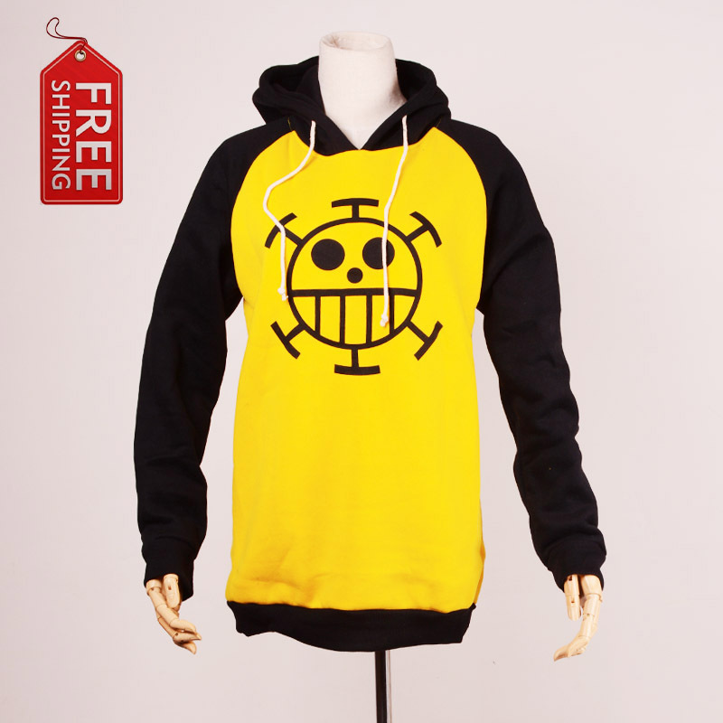 One Piece Costume Japanese Anime Trafalgar Law Cosplay Costume Adult Hoodie Yellow Sweater Clothes Halloween Costume For Men