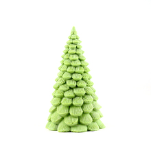Christmas Tree Silicone Candle Mold Big Size 3D Pine Shape Handmade Soap Making Mould