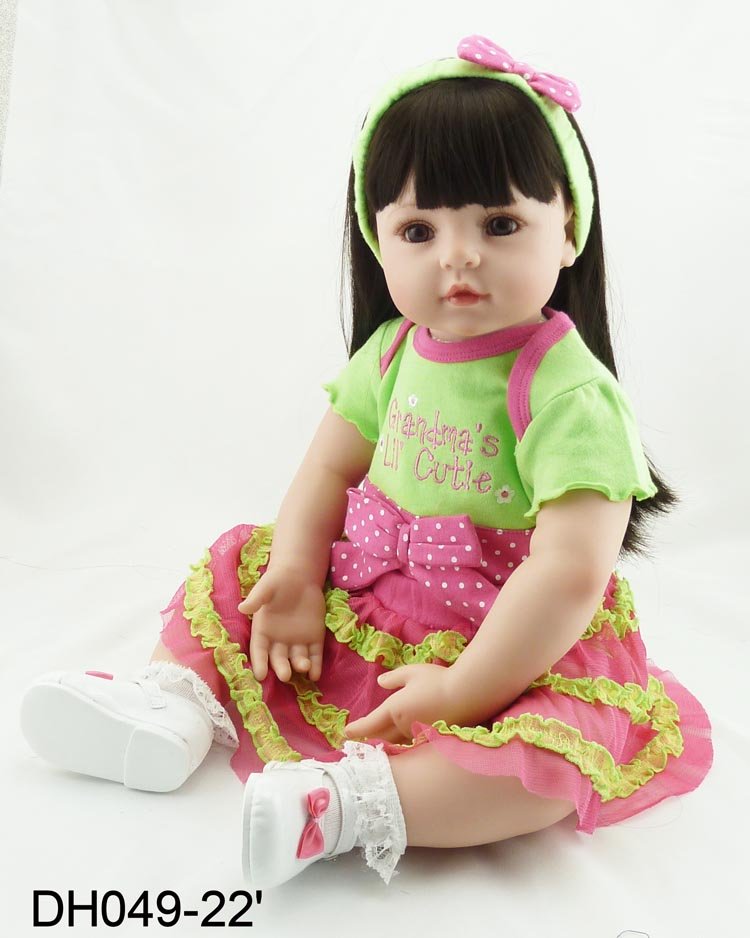 hot new reborn vinyl silicone baby dolls accompany handmade lifelike princess toddler doll kid christmas new year boutique gifts the cute silicone reborn baby dolls accompany sleeping lifelike cute princess toddler doll kid popular christmas new year gifts