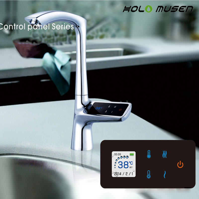 2 года гарантии роскошный ЖК-дисплей сенсорный экран умный термостат раковина кран Электрический смеситель цифровой термостат кран