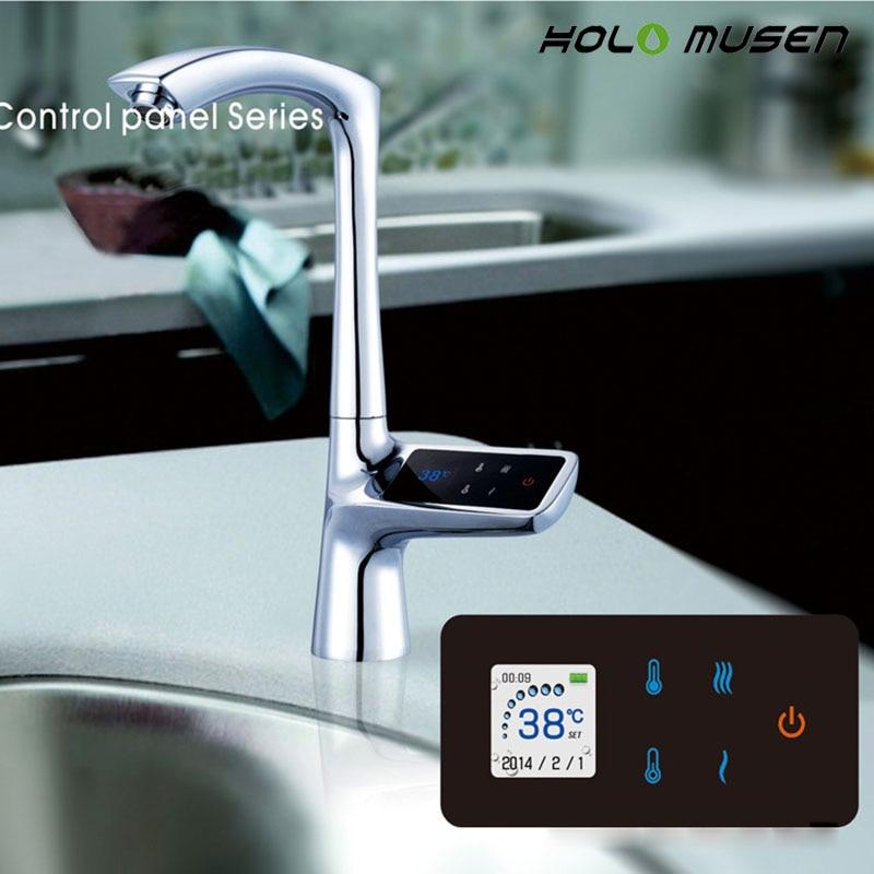 2 Ans De Garantie De Luxe LCD Affichage Écran Tactile Thermostat Intelligent Évier Robinet Électrique Robinet Mélangeur Numérique Thermostat Robinet