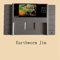 Earthworm Jim 16 bit Big Gray Game Card For NTSC Game Player 10pcs