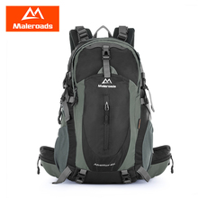 Maleroads 40L Outdoor Sports Backpack Hiking Camping Water Resistant Nylon Travel Luggage Bike Rucksack Bag With Rain Cover