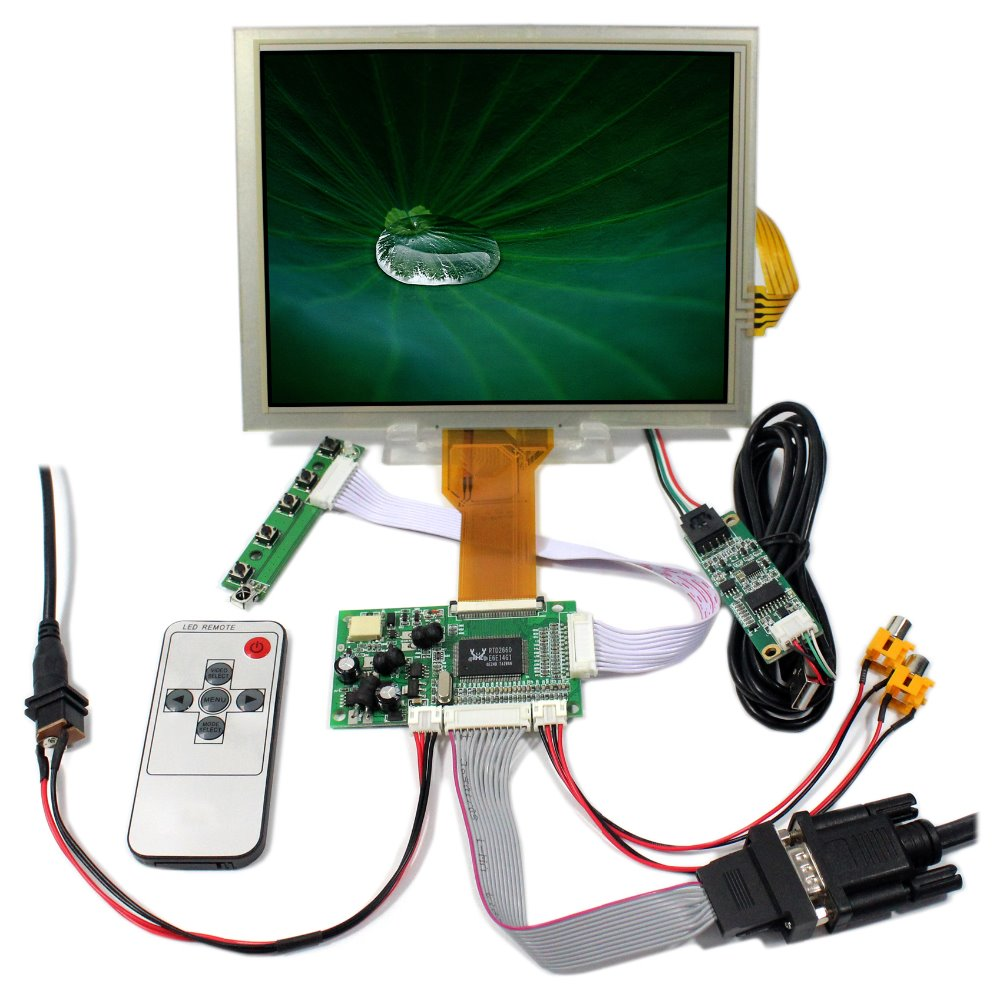 VGA+2AV+Revering driver board +8inch 800*600 lcd panel EJ080NA-05B+Touch panel vga 2av revering driver board 8inch 800 600 lcd panel ej080na 05b touch panel