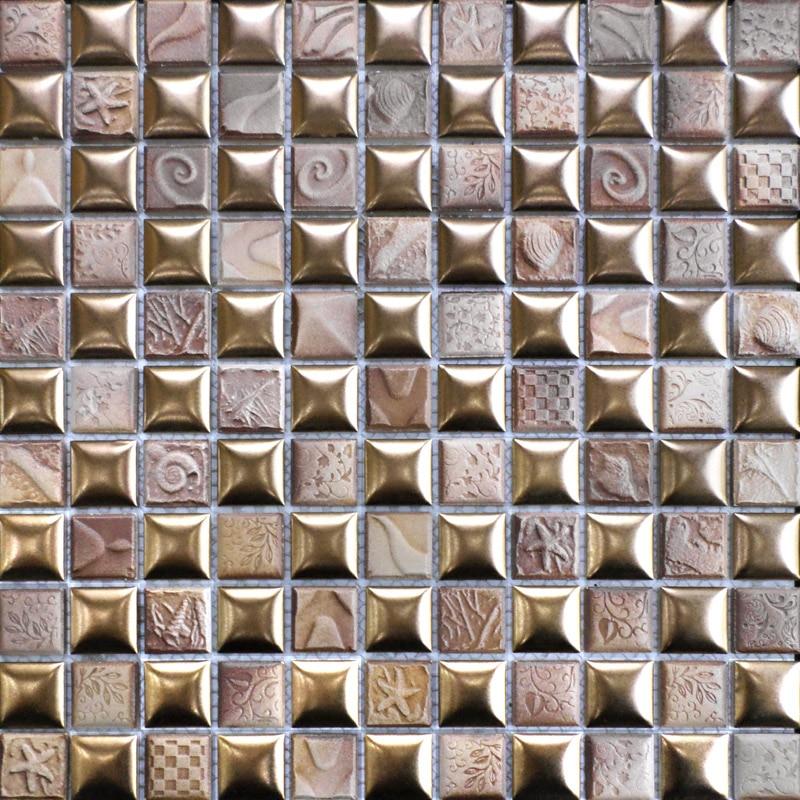 classic convex ceramic mosaic tile kitchen backsplash tile bathroom wall tiles shower hallway fireplace border wallpaper copper brown resin sticker fireplace kitchen backsplash wall tiles vintage drawbench metal mosaic meshback home wallpaper lsrn03