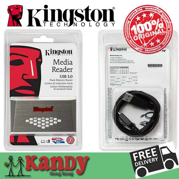 Kingston Кард-ридер USB 3.0 все в одном устройство чтения карт памяти CF micro SD SDHC SDXC UHS-I microSD Memory Stick PRO Duo MS карты компьютера много