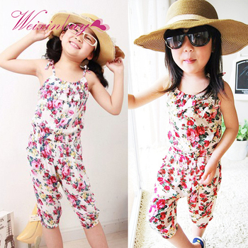 Baby Girl Clothes Toddler Fashion Cute Girls Jumpsuit Short Playsuit Soft Clothing One-piece Shirt 2-8Y conjuntos casuales para niñas