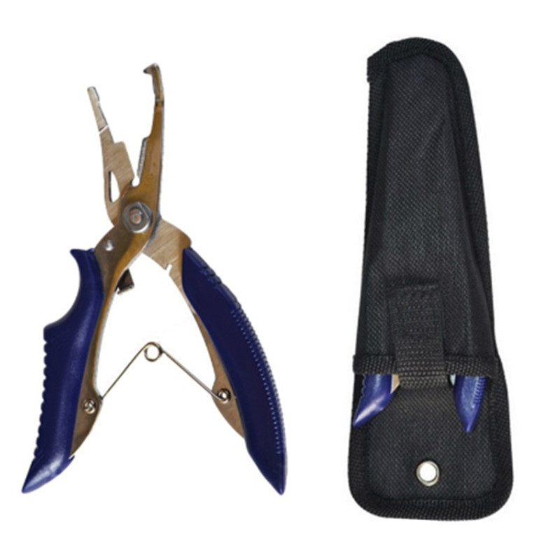 Small Fishing Scissors Stainless Steel Fishing Line Cutter Hook Remover Pliers Tackle With Bag Outdoor Fishing Tools
