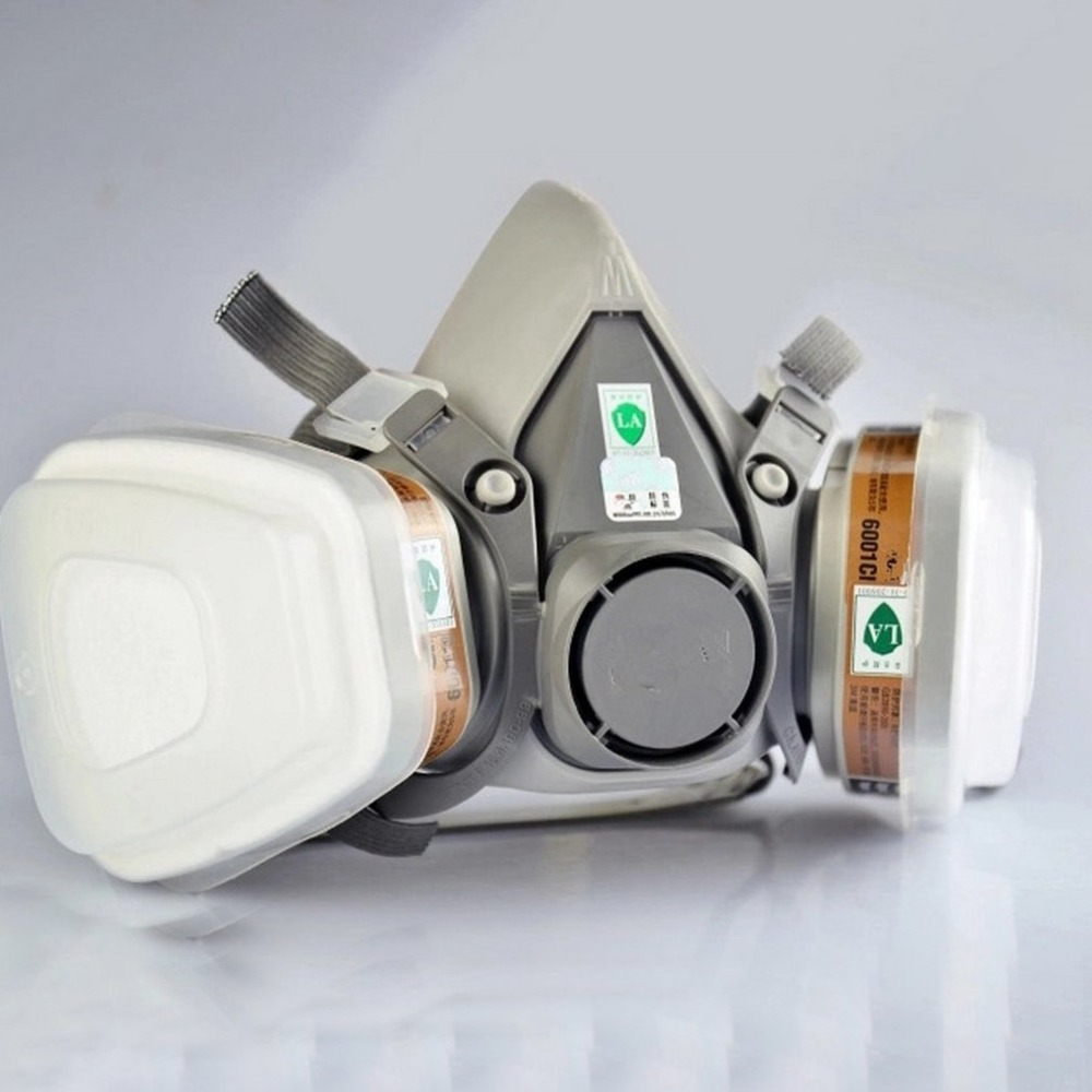 7pcs Organic Vapor Full Face Respirator Mask Gas Mask Paint Pesticide Chemical Formaldehyde Anti Virus Respiratory Protection