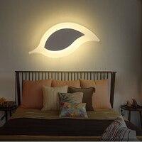 اللاسلكية داخلي الجدار مصابيح غرفة نوم غرفة المعيشة قناة يترك الإبداعية الشمال الجدار ضوء أكريليك حديث وحدة إضاءة LED جداريّة مصباح AC85 265V-في مصابيح الجدار الداخلي LED من مصابيح وإضاءات على