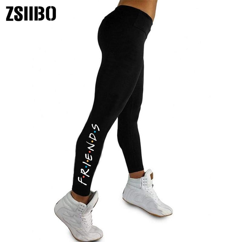 Friends print leggings fitness leggings for women sporting workout leggins elastic slim black pants fitness leggings