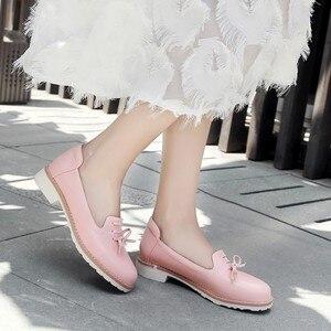 Image 4 - Grande taille 11 12 dames talons hauts femmes chaussures femme pompes simple chaussure décontracté chaussures peu profonde à tête ronde femme