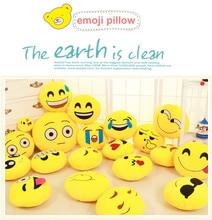 Funny Cute emoji pillow Plush Toy coussin cojines emoji gato Emotion Cushion emoticonos smiley Pillows Stuffed Plush almofada