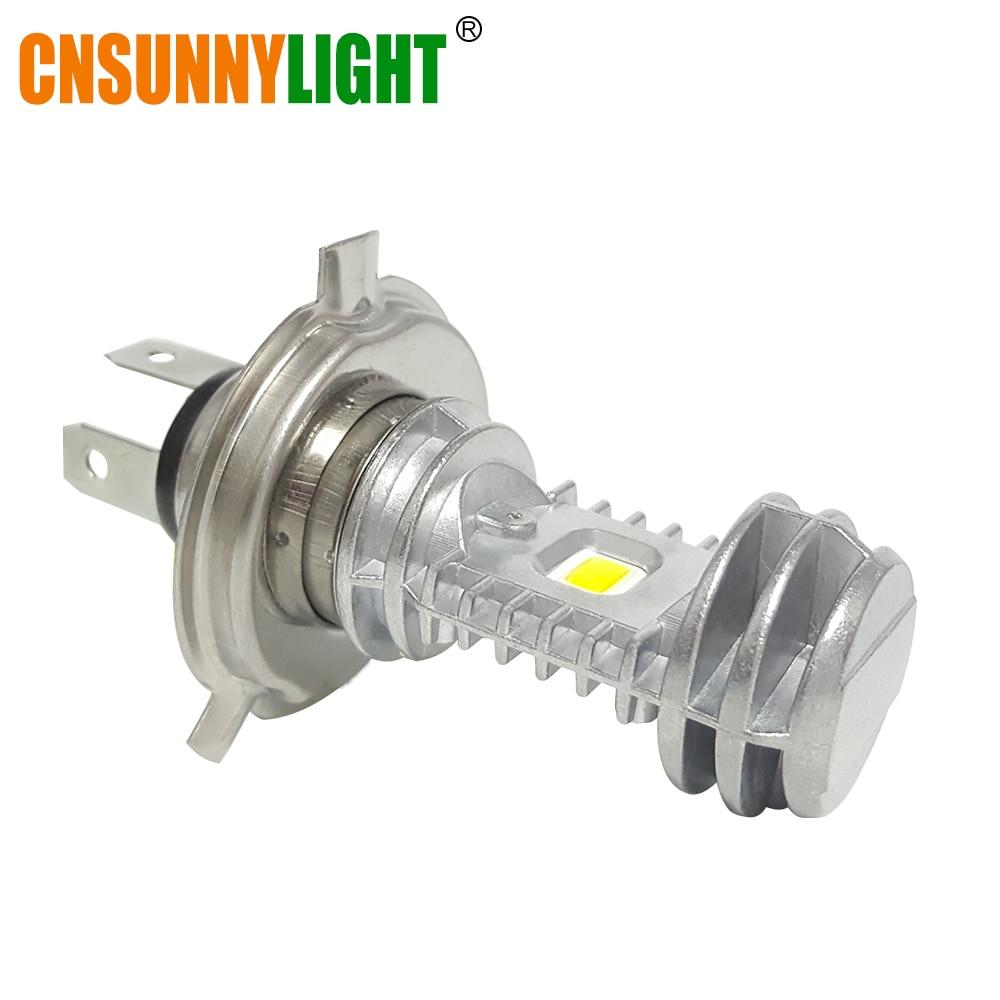 CNSUNNYLIGHT H4 P43t HS1 LED BA20D H6 Motorcycle Headlight Bulb 1080Lm H L font b Lamp