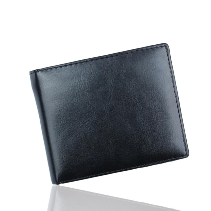 Men/'s PU Leather Bifold Wallet Credit//ID Card Receipt Holder Coin Purse Stylish