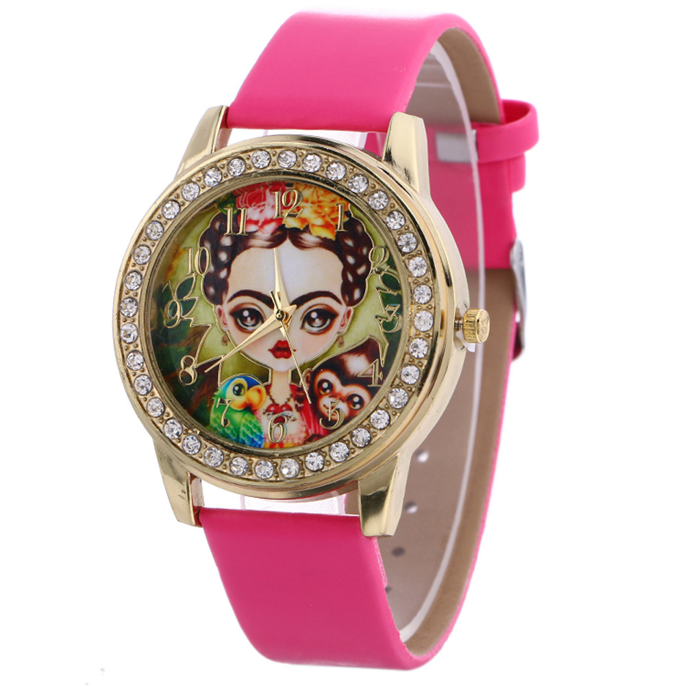 Relojes Mujer 2020 Women Quartz Watches Hours Leather New Casual Pattern Wrist Watches Sports Clock Relojes Relogio Feminino