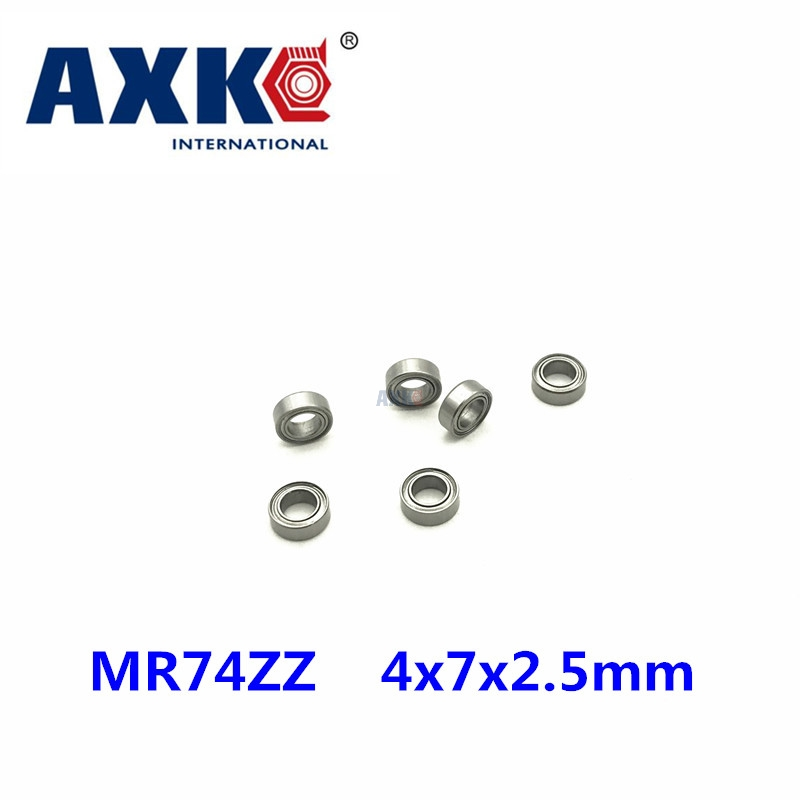 Free Shipping 500PCS Mini Bearing MR74ZZ L-740ZZ 4x7x2.5mm Bearings P5 MR74 ZZ 4*7*2.5 Deep Groove Ball Bearings