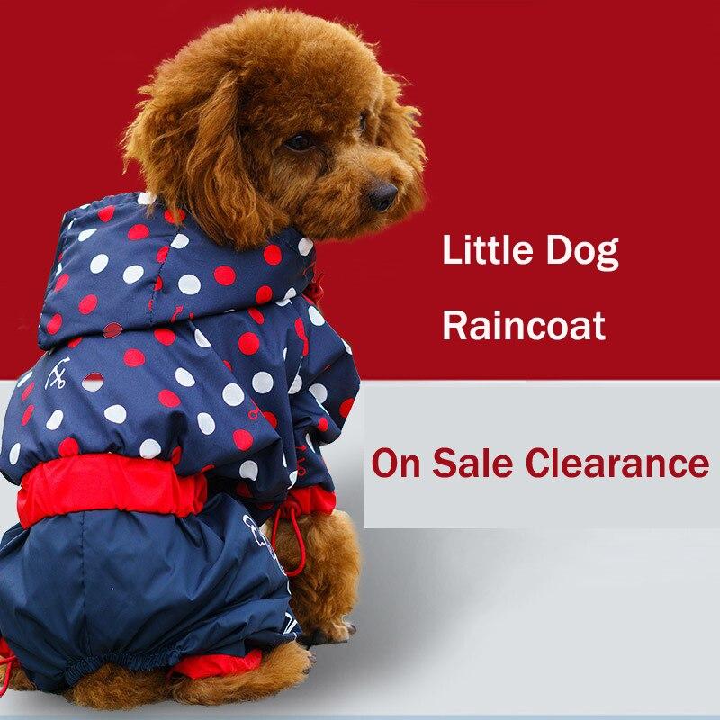 Распродажа, распродажа, дождевик для маленьких собак, водонепроницаемая одежда с капюшоном для маленьких щенков, Одежда для животных, четыре ножки, дождевик, одежда, Прямая поставка|Комбинезоны и ромперы|   | АлиЭкспресс