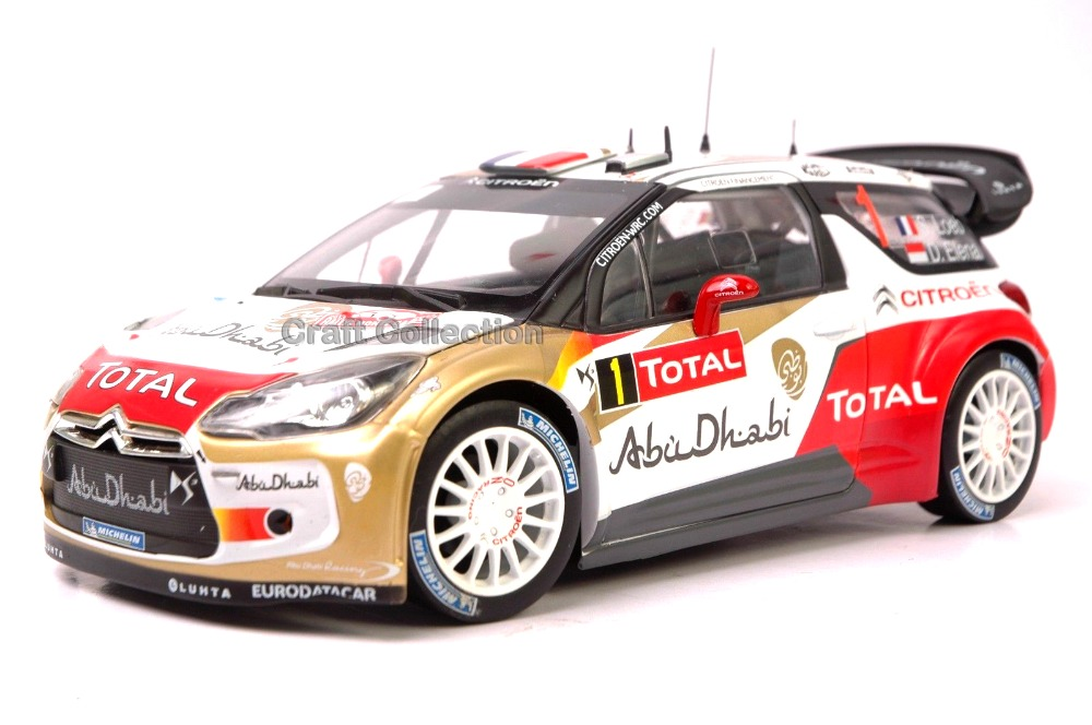 * 1/18 Citroen DS3 WRC #1 2016 Alloy Racing Car New Coming Modell Auto Simulation Model Diecast Mini Vehicle DS 3