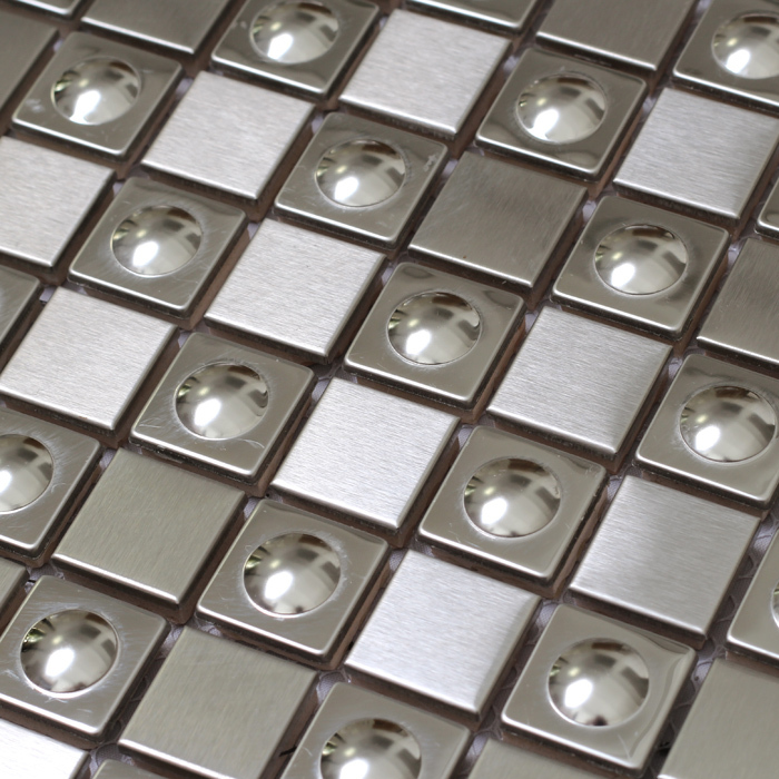Silver Color Metal Jali Pattern : D square silver color stainless steel metal tiles special