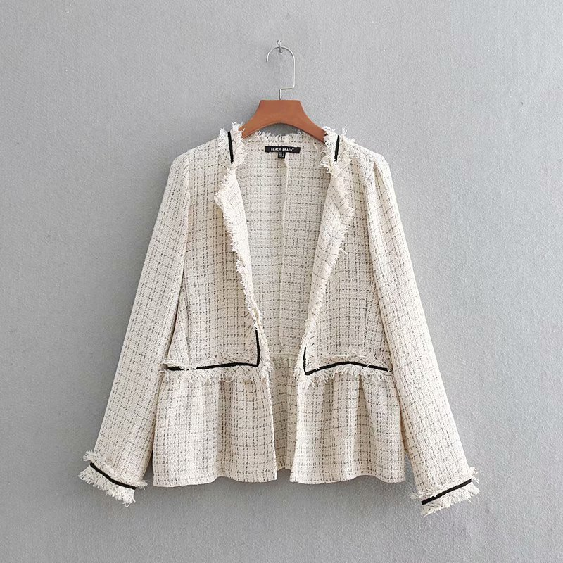 Latest Collection Of Popular New Cc60-9062 European And American Fashion Tweed Jacket Big Clearance Sale Jackets & Coats
