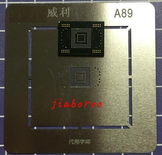 1 paare/los 1 stücke eMMC speicher flash-NAND mit firmware für Samsung Galaxy Tab 2 10,1 P5100 16 GB + 1 stücke BGA reballing reball schablone