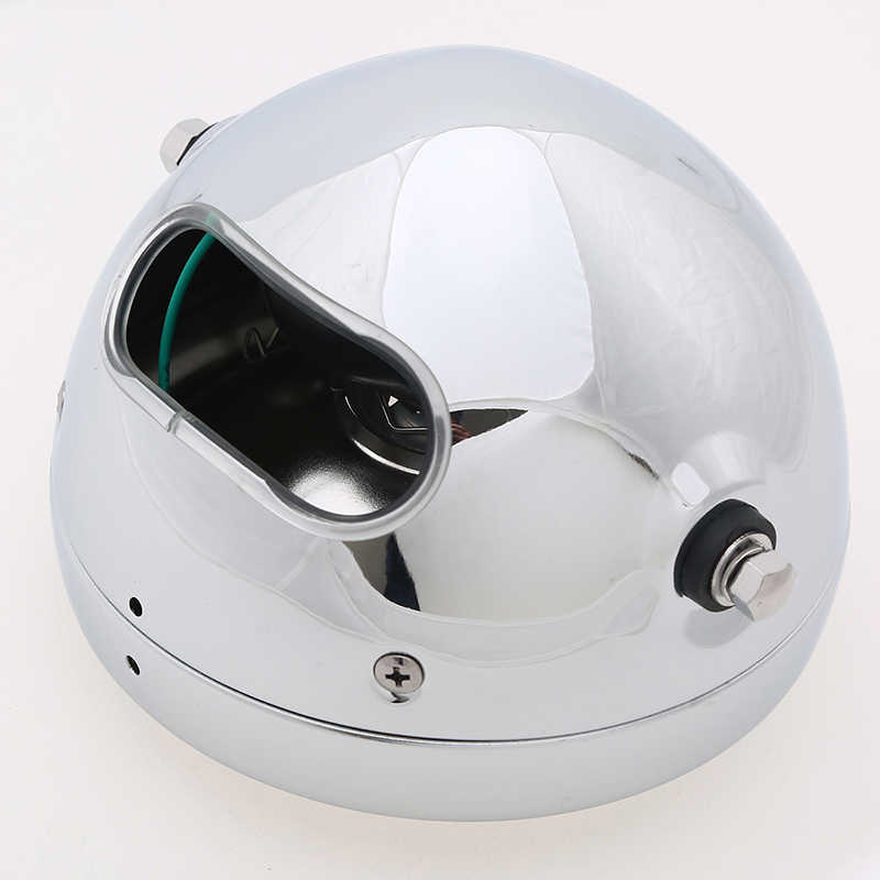 POSSBAY 6.5'' Chrome Motorcycle Headlight Amber Headlamp For Honda Yamaha Suzuki GN 125 Front Light Luces Motorbike Accessories