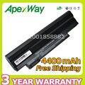 Apexway negro 4400 mah batería del ordenador portátil para acer al10a31 al10b31 al10g31 para Aspire One D255 D270 D260 522 722 D255 AOD257 AOD260