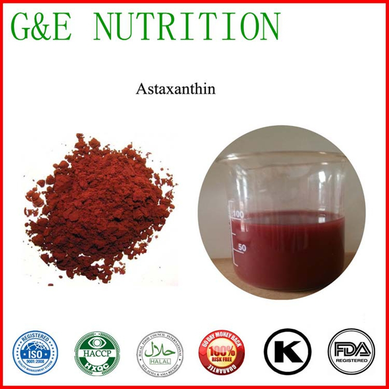 Manufacturer of top quality natural astaxanthin powder / pure astaxanthin powder 3%  1KG per bag  superior quality pure astaxanthin 1