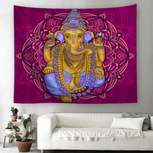 Idols Religious Tapestry Zen India Religion Ethnic Culture Polyester Fabric Wall Decoration Beach Towel
