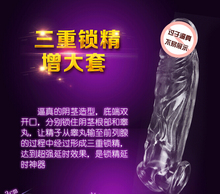 Big Male Penis Sleeve Extender With Box Penis Enlargement Enhancer Condom Delay Ejaculation Sex Toys For Men, Adult Sex Products