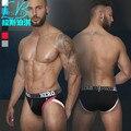 Hot Barato Bolsa Sungas Shorts dos homens da Marca de Moda de Nova Sexy Perfuração Mans Gay Cueca Sem Encosto Senhor Jockstrap Cuecas Masculinas XXL