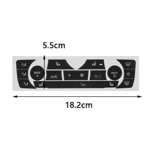 Image 5 - 車のステッカー AC 気候制御ボタンステッカーパネルボタン修理デカールキット 2006 2011 bmw E90 E91 E92 330I レギュラータイプ
