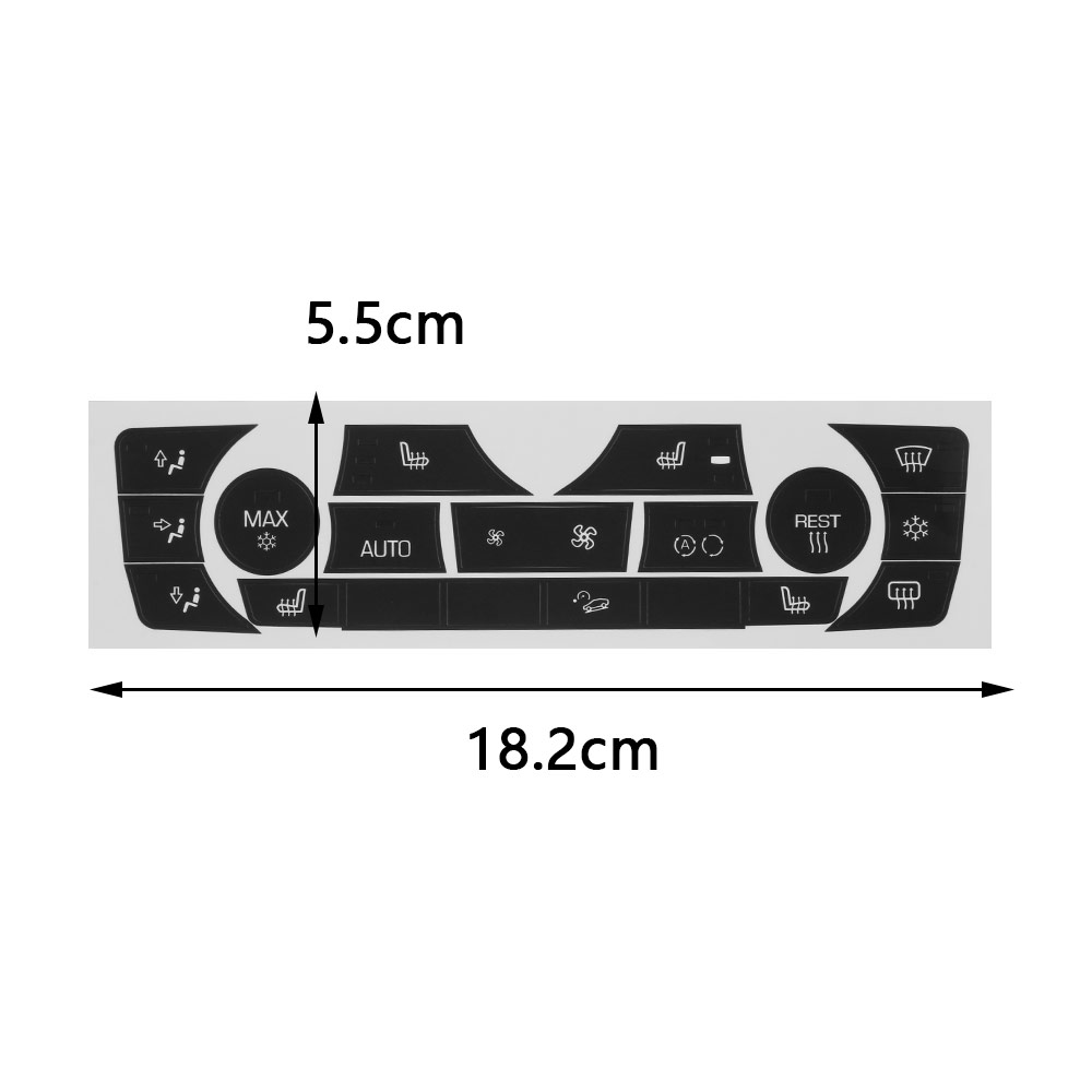 Image 5 - Car Sticker AC Climate Control Button Sticker Panel Button Repair Decal Kit For 2006 2011 BMW E90 E91 E92 330I Regular Type-in Car Stickers from Automobiles & Motorcycles