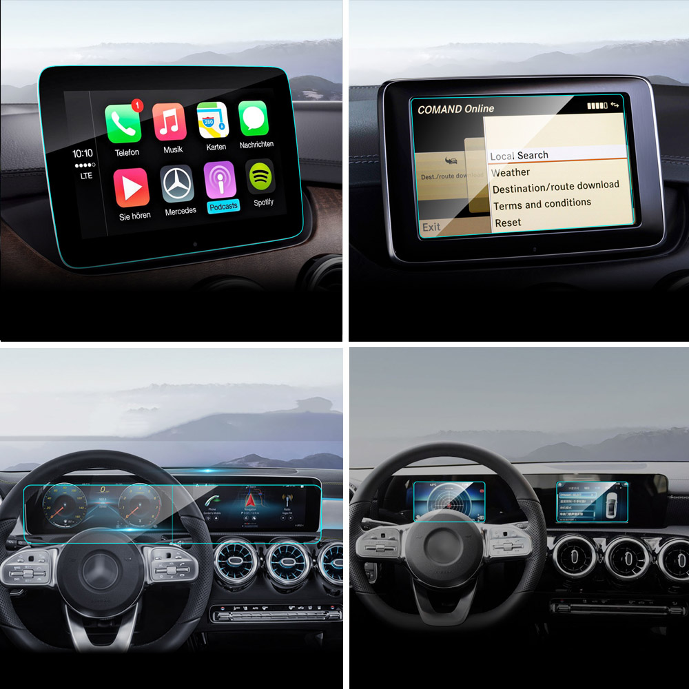 Car GPS <font><b>Navigation</b></font> Screen Protector Tempered Glass for <font><b>Mercedes</b></font> W246 <font><b>W176</b></font> W177 W213 X156 W117 C117 A E GLA CLA Class Car Access image