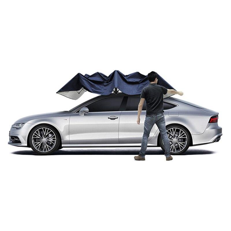 4.8 mètre manuel en plein air voiture véhicule tente parapluie parasol toit couverture Anti-UV Kit voiture parapluie pare-soleil voiture parapluie couverture