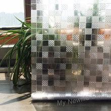 3D Mosaic Square frosted glass window film sticker balcony bathroom Static privacy Decorative PVC Film home decor 45/60/90*200cm