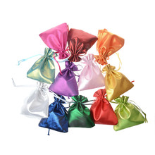 Whosale Adjustable Jewelry Packing Satin colors mix drawstring Velvet bag 10x12cm,Wedding Gift Bags & Pouches