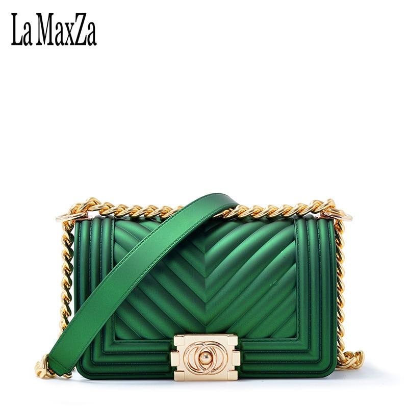 High quality matte jelly bag frosted female bag lock slung shoulder bag female mini bag handbag