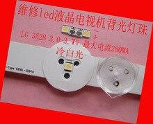 350ชิ้น/ล็อตสำหรับซ่อมLG LCD TV LEDหลอดไฟSMD LEDs 1W 3V 3528 2835เย็นสีขาวLight Emitting Diode
