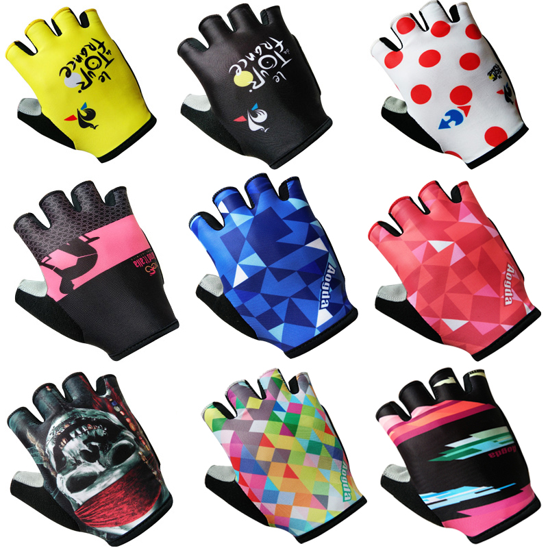 2018 3D GEL Pad Half Finger The Tour de France MTB Bike Gloves Cycling Gloves Luvas Bicicleta Ciclismo Mountain Bicycle Gloves batfox summer men women half finger cycling gloves short bicycle gloves mountain bike mtb equipment bicicleta para ciclismo